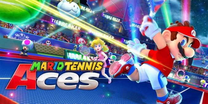 Das Bild zeigt ein Werbebild zu Mario Tennis Aces auf der Nintendo Switch.