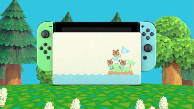 Das Bild zeigt die Sonderedition der Nintendo Switch.