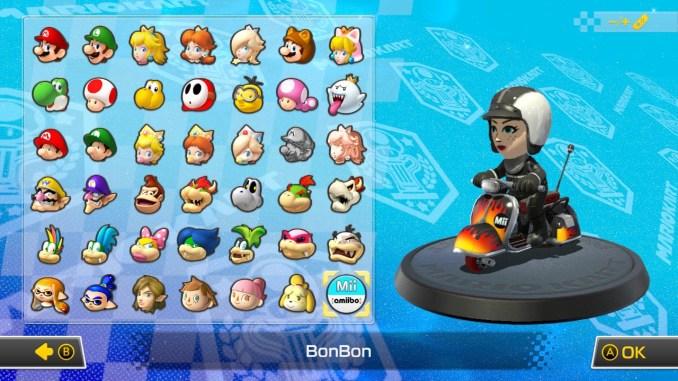 Das Bild zeigt die Charakterauswahl.