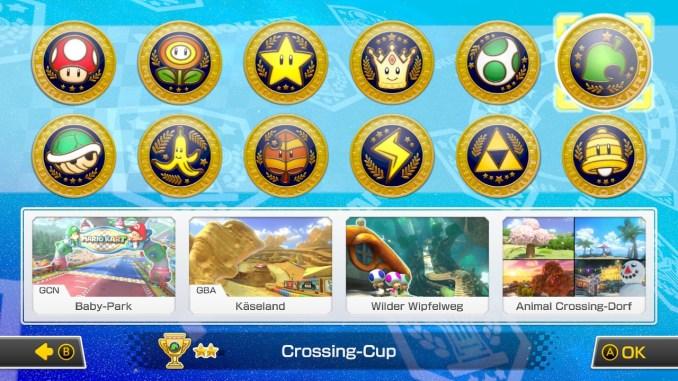 Das Bild zeigt die Übersicht der Cups.