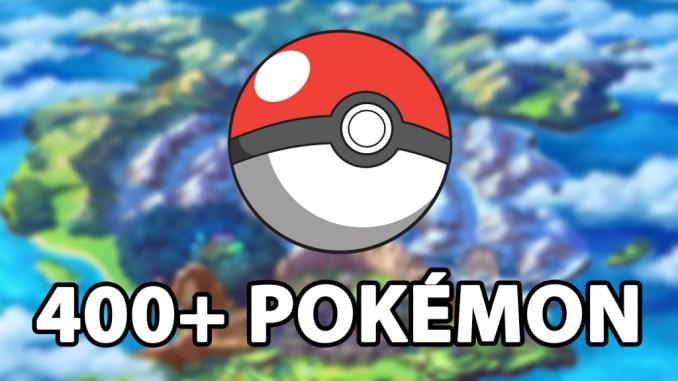 """Das Foto zeigt einen Pokéball und darunter den Schriftzug """"400 + Pokémon""""."""