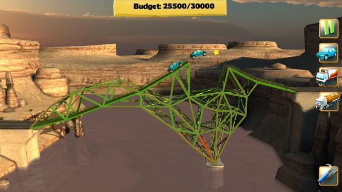 Das Bild zeigt einen Ausschnitt von Bridge Constructor