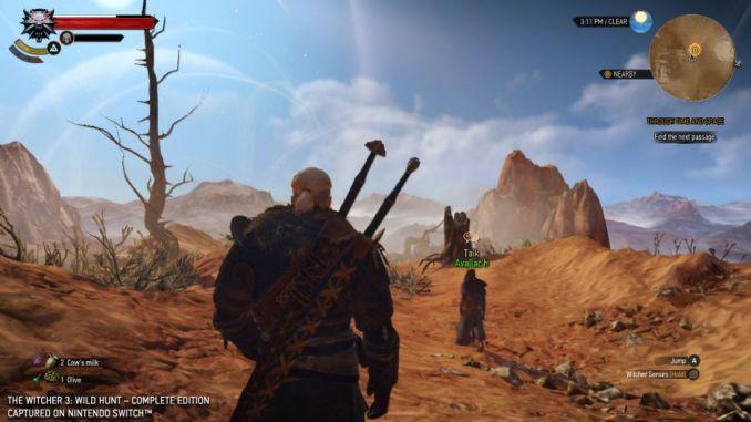 Das Bild zeigt einen Spielausschnitt aus The Witcher 3 auf der Switch. Jetzt will der Entwickler Cyberpunk 2077 auf die Switch bringen.