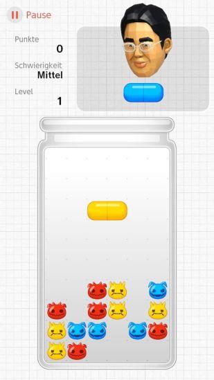 Das Bild zeigt das Minispiel Bazillenjagd.