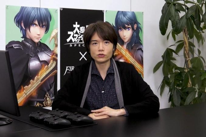 Das Bild zeigt den Producer von Super Smash Bros. Ultimate.