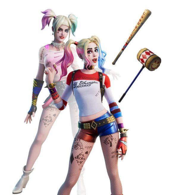 Das Bild zeigt das Outfit zu Harley Quinn in Fortnite.