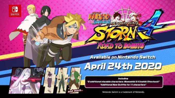Im Bild zu sehen ist das offizielle Werbecover des Switch-Release von Naruto Shippuden: Ultimate Ninja 4: Road to Boruto