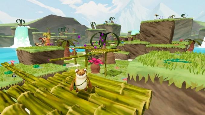 Das Bild zeigt ein Level aus dem Spiel Gigantosaurus: The Game.
