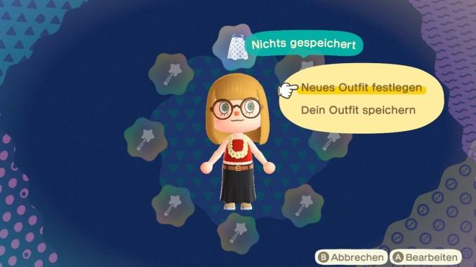 Dieses Bild zeigt die acht möglichen Outfits im Sternenstab.
