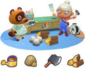 Auf dem Bild ist eine gezeichnete Handwerkssituation in Animal Crossing: New Horizons zu sehen. Auch die Handwerker freuen sich über ihren Verkaufserfolg.