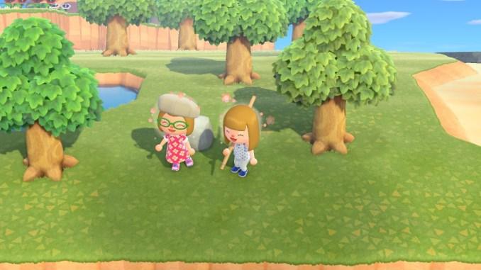 Dieses Bild zeigt Caren und Bonnie auf Carens Insel.