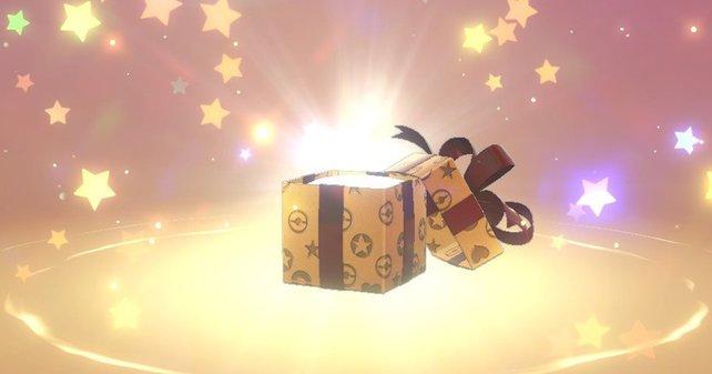 Das Bild zeigt ein sich öffnendes Geschenk. Es enthält einen vorher bekanntes Geschenk. Umgeben ist das Paket von Sternen.