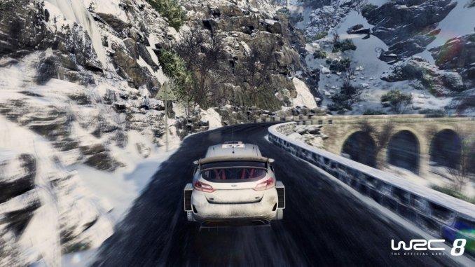 Das Bild zeigt eine Szene aus dem Vorgänger von WRC 9