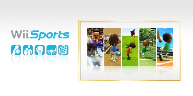 Das Bild zeigt das auf der Wii beliebte Spiel  Wii Sports. Es handelt sich bei diesem um ein interaktives Spiel im Sinn der WHO.