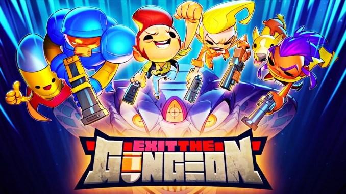 Auf dem Bild ist das offizielle Cover von Exit The Gungeon zu sehen.