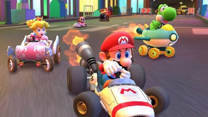 Das Bild zeigt eine Szene aus Mario Kart, welches in China gelockt ist