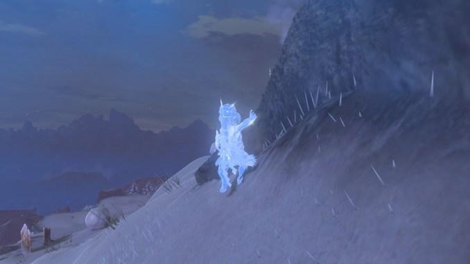 Breath of the WIld – Dieses Bild zeigt einen eingefrorenen Link.