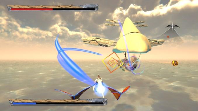 """Das Bild zeigt einen fliegenden Gegner aus """"Panzer Dragoon: Remake""""."""