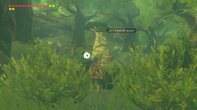 Breath of the WIld – Dieses Bild zeigt Maronus im Wald der Krogs.