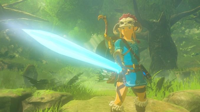 Breath of the WIld – Dieses Bild zeigt Link, nachdem er das Master-Schwert aufgewertet hat.
