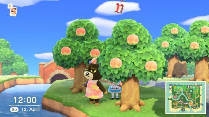 """Das Bild zeigt das Wetter zu einem Event in """"Animal Crossing: New Horizons""""."""