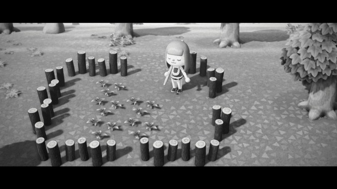 Dieses Bild zeigt meinen ersten kleinen Garten in Animal Crossing: new Horizons.