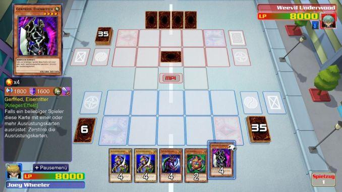 """Das Bild zeigt ein Duell aus """"Yu-Gi-Oh! Legacy of the Duelist: Link Evolution""""."""
