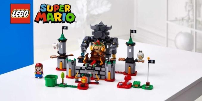 Auf dem Bild ist unter anderem  das Bowser Catle Set von Lego Mario zu sehen.