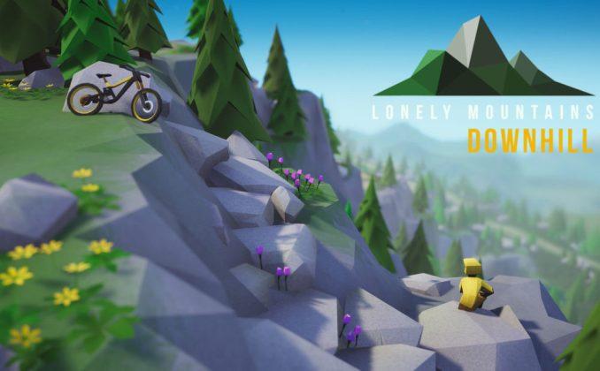 """Das Bild zeigt eine Szene aus """"Lonely Mountains Downhill""""."""