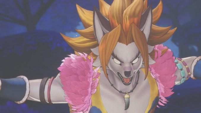 """Das Bild zeigt die Bestienform von Kevin während eines Klassenangriffs aus """"Trials of Mana""""."""