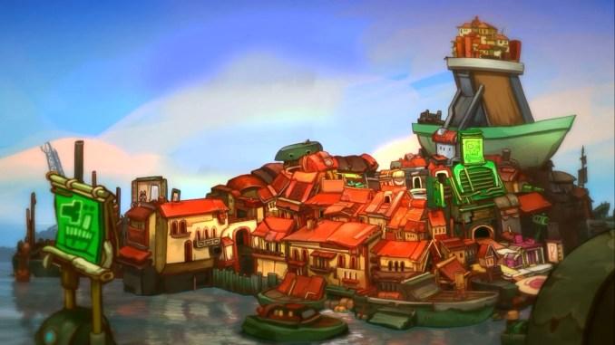 Das Bild zeigt den schwimmenden Schwarzmarkt