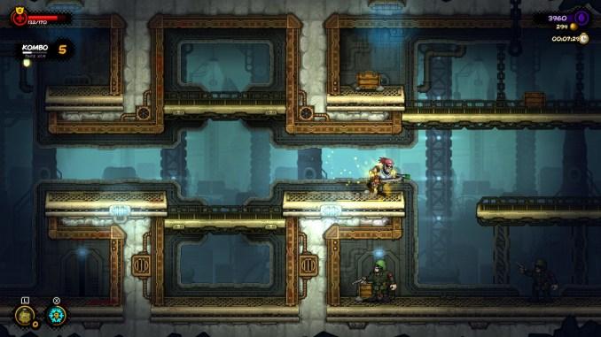 """Das Bild zeigt einen Spielausschnitt aus """"Fury Unleashed"""", der eine Komboserie beinhaltet."""