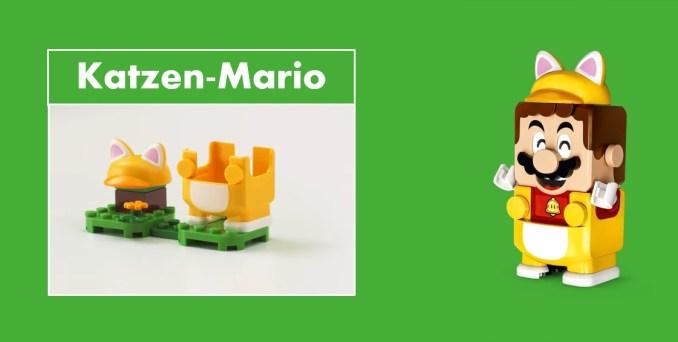 Das Bild zeigt LEGO Super Mario mit Katzen-Anzug.