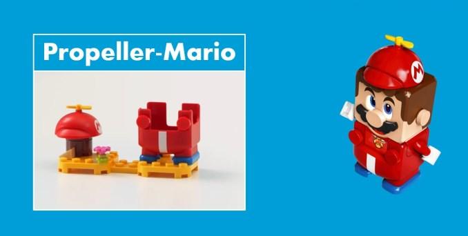 Das Bild zeigt LEGO Super Mario mit Propeller-Anzug.