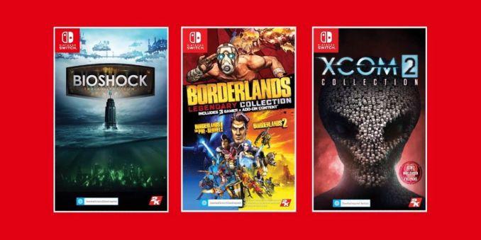 Das Bild zeigt die Cover der Portierungen der 2K-Games.