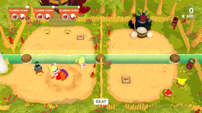 """Das Bild zeigt einen Kannibalen aus dem Spiel """"Cannibal Cuisine"""", welcher gerade einige Urlauber betäubt hat."""