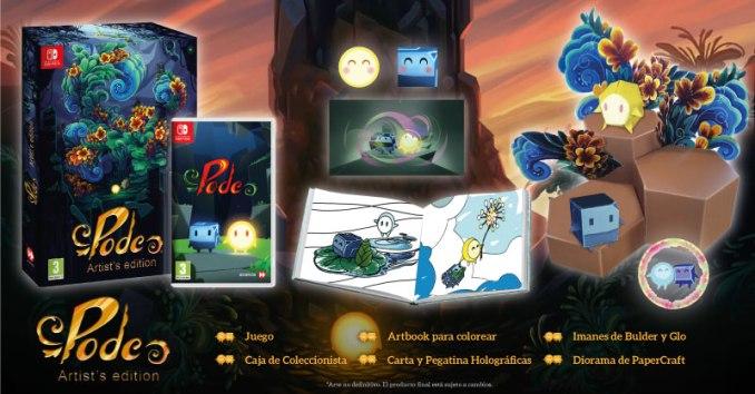 """Das Bild zeigt den Inhalt der Artist's Edition von """"Pode""""."""
