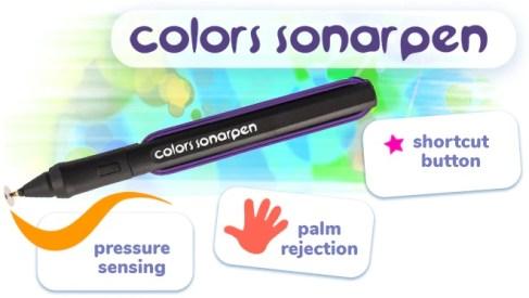 Das Bild zeigt den Sonar-Pen und seine Funktionen.