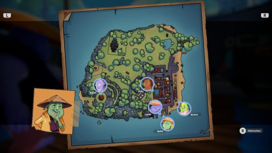 """Das Bild zeigt die Karte von Qälis aus dem Spiel """"Summer in Mara""""."""