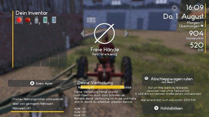 """Das Bild zeigt das Hauptmenü aus dem Spiel """"Farmers Dynasty""""."""