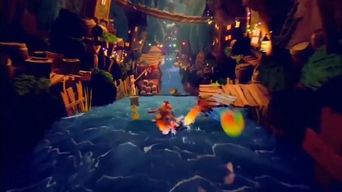 """Das Bild zeigt eine Szene aus Activisions """"Crash Bandicoot 4: It's About Time""""."""