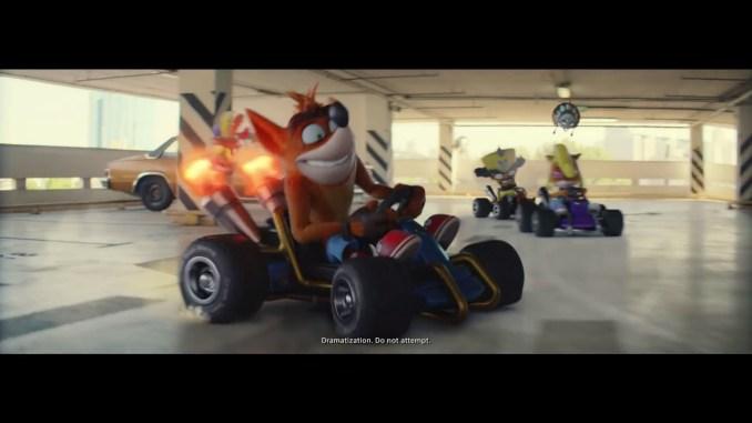 """Das Bild zeigt eine Szene aus dem Spiel """"It's About Time"""" mit """"Crash Bandicoot""""."""
