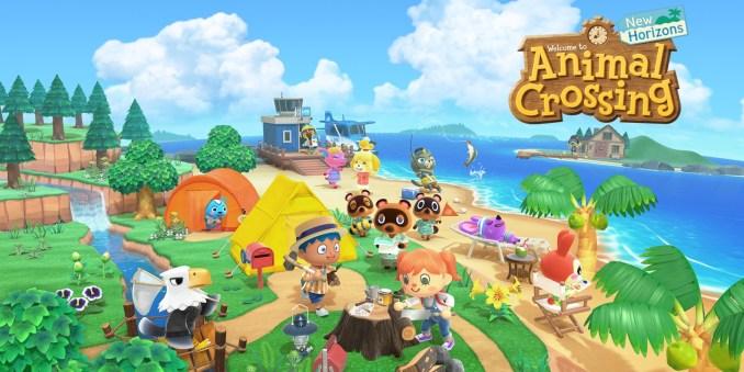"""Das Bild zeigt das Keyartwork zu """"Animal Crossing: New Horizons""""."""