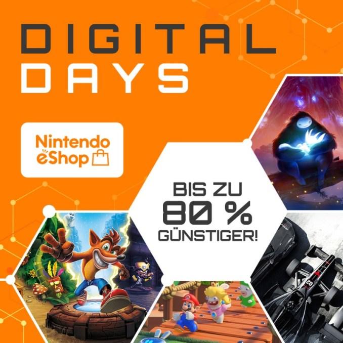 """Das Bild zeigt den Banner zur eShop-Aktion """"Digital Days""""."""