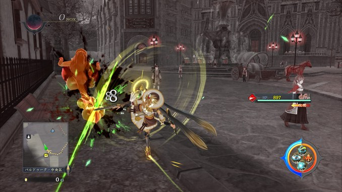 """Das Bild zeigt eine Szene aus dem Spiel """"Ys IX: Monstrum Nox""""."""