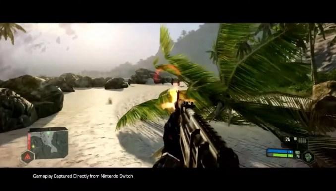"""Das Bild zeigt Switch-Gameplay von """"Crysis Remastered""""."""