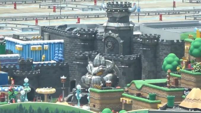 "Das Bild zeigt Bowsers Schloss in ""Super Nintendo World""."