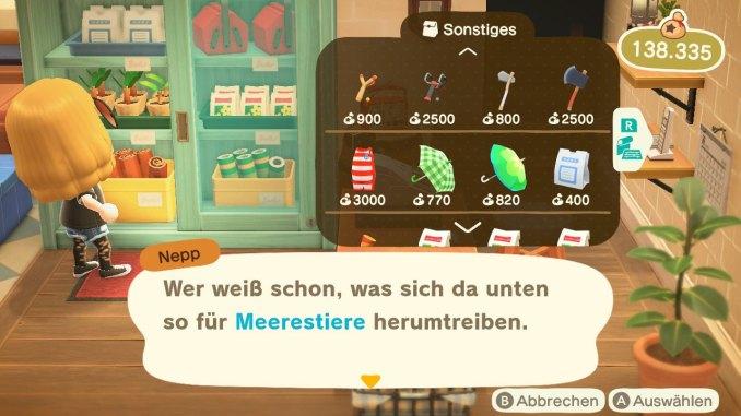 """Das Bild zeigt einen erwerbbaren Taucheranzug für """"Animal Crossing: New Horizons""""."""