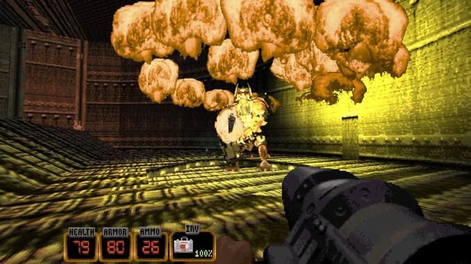 """Das Bild zeigt einen Endgegner aus dem Spiel """"Duke Nukem: 20th Anniversary World Tour""""."""