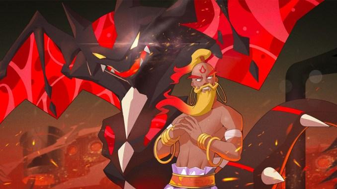 """Das Bild zeigt ein Artwork aus dem Spiel """"Nexomon: Extinction""""."""